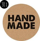 Sticker | HANDMADE | kraft | 35 mm | 30x