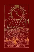 The Moon: Tarot Card Notebook Rosewood Red 175-Page