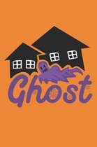 Ghost: Spooky Halloween Gifts for Kids or Adults: Awesome Orange and Purple Ghost Notebook to Write in