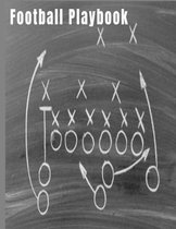Football Playbook: Best Football Play Designer Notebook 8.5'' X 11'' 124 Pages Chalk Board Play Cover