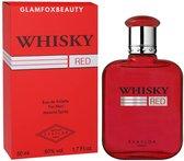 Whisky - RED - Heren Parfum - Zoete geur met Kardemom - Cederhout - Mos - 100 ml