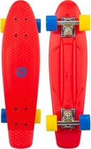 Nijdam FlipGrip Skateboard - Sunset Cruiser - Rood/Blauw/Geel