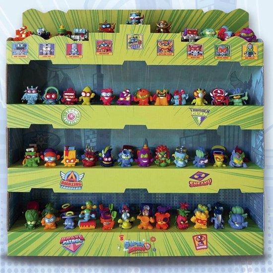 Thumbnail van een extra afbeelding van het spel SuperZings Een groen kleurendisplay met vier planken - serie 3 Collector's Display