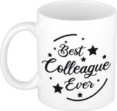 Best colleague ever koffiemok / theebeker - 300 ml - wit - carriere switch / VUT / pensioen - bedankt cadeau collega / teamgenoot