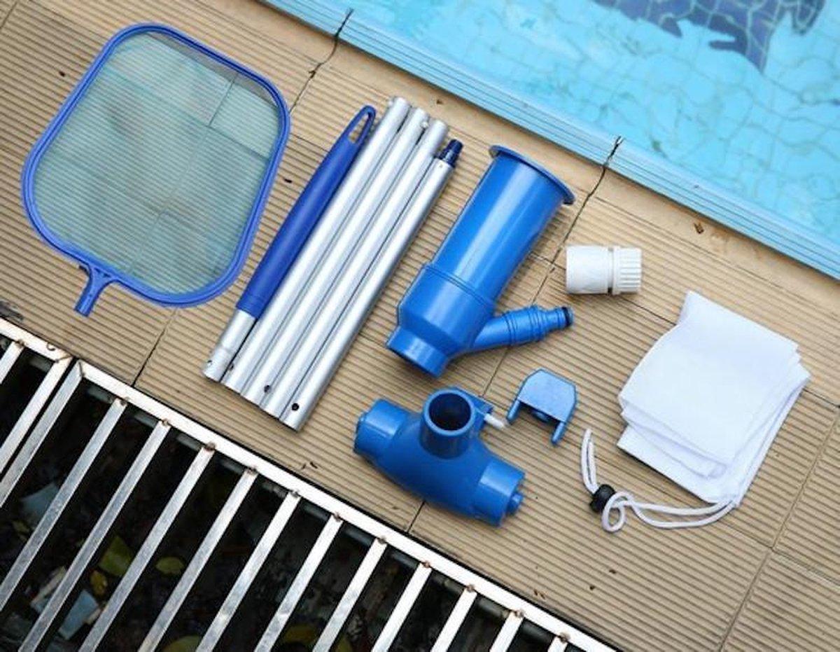 Zwembad Stofzuiger INCLUSIEF Steel - Zwembadstofzuiger - Bodemzuiger - Zwembadzuiger - Bodemzuiger Zwembad - Zwembad Onderhoud - Zwembad Schoonmaak - Schoonmaakset - Zwembadreiniger