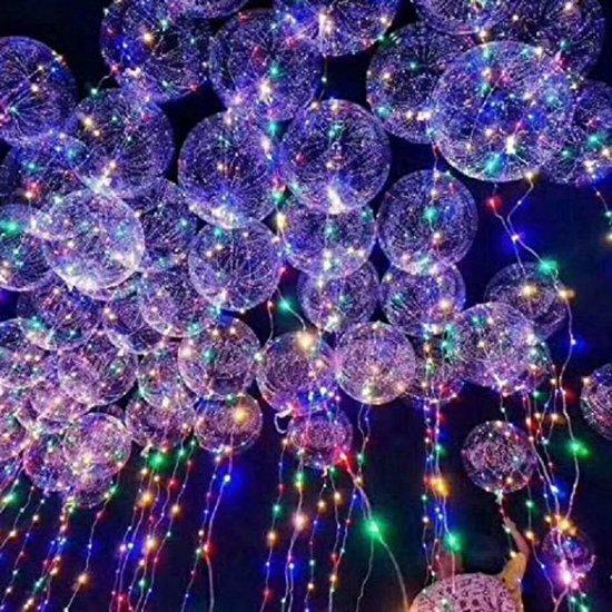 Verlichte LED ballon - 40 cm - 10 stuks