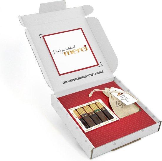 THNX – Chocolade cadeau – Geschenkpakket – Merci dat jij er bent – Cadeau voor haar – Chocolade reep – Zonnebloem zaadjes – Bedankt cadeau