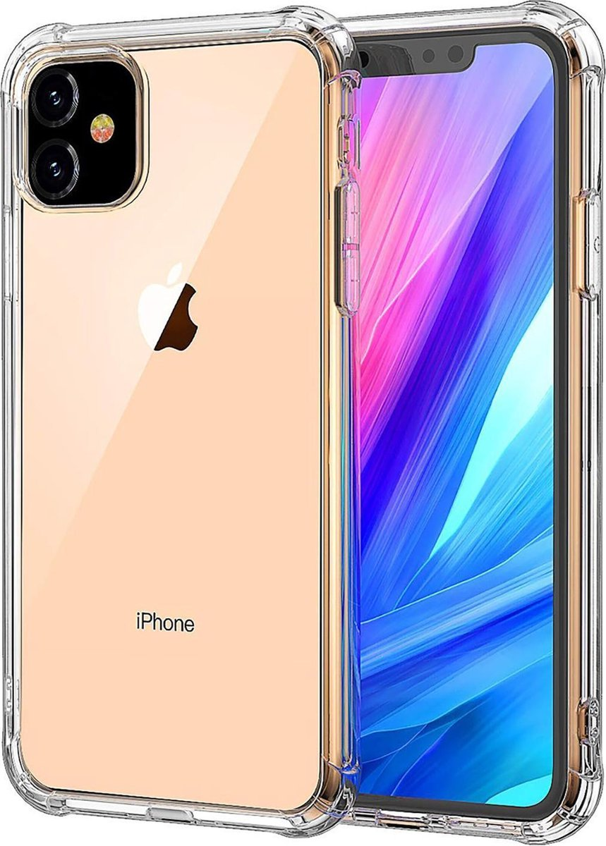 iPhone 11 Hoesje Shock Proof Siliconen Hoes Case Cover Transparant