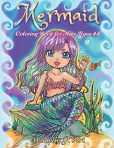 Mermaid Coloring Book for Kids Age 4-8: Cute, Adorable Mermaids Perfecty for Girls