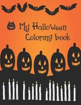 My Halloween Coloring Book: Cute Halloween Book for Kids, 3-5 yr olds