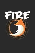 Fire: 6x9 Fox - dotgrid - dot grid paper - notebook - notes