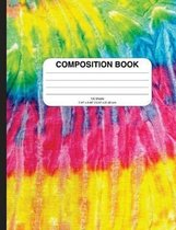 Composition Notebook with Tie Dye (wide ruled)