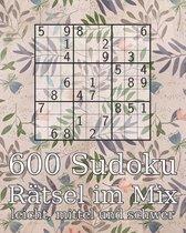 600 Sudoku Ratsel im Mix leicht, mittel und schwer