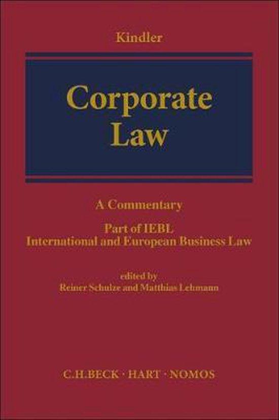 Boek cover Corporate Law van  (Hardcover)