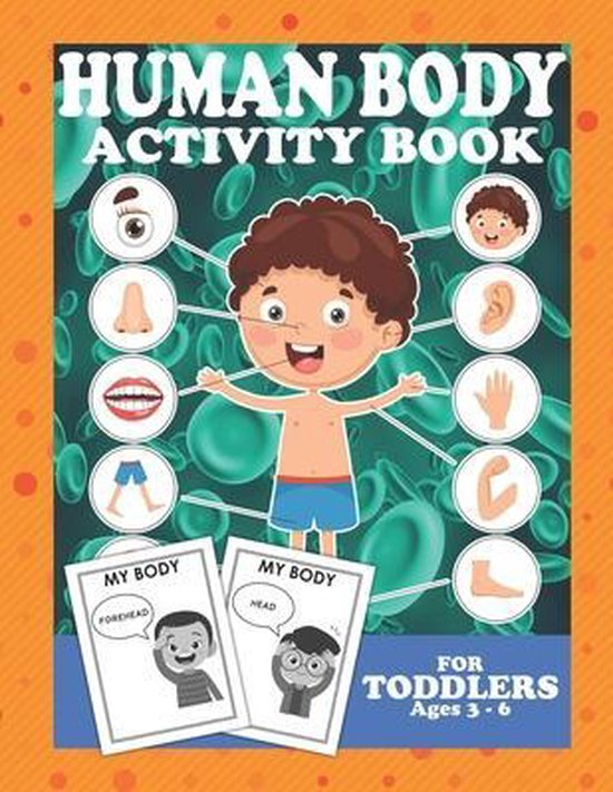 Human Body Activity Book For Toddlers 3-6