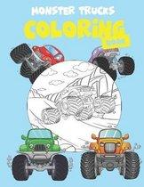 Monster Trucks Coloring Book
