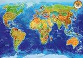 Politieke wereld kaart 1000 Blue Bird