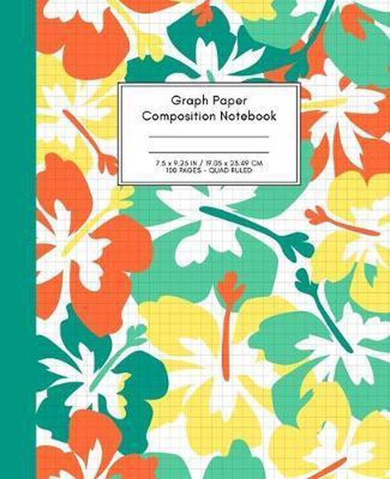 Graph Paper Composition Notebook: Quad Ruled 5x5 (5 squares per inch), Grid Paper for Science, Math & Engineering Students or Teachers (7.5 x 9.25 - 1