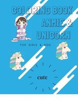 coloring book anmie & unicorn for girls & kids ( cute ):