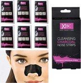 Charcoal -nose - 6 strips - Cleansing -Charcoal - Strips - Neusstrip - Mee - eters - Puistjes - blackhead- neus - poriën- verwijderen