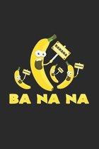 Ba Na Na Banana: 6x9 Banana - grid - squared paper - notebook - notes
