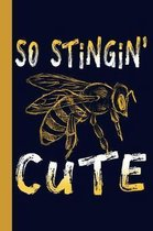 Stingin' Cute: Honey Bee 6x9 120 Page College Ruled Beekeeper Notebook