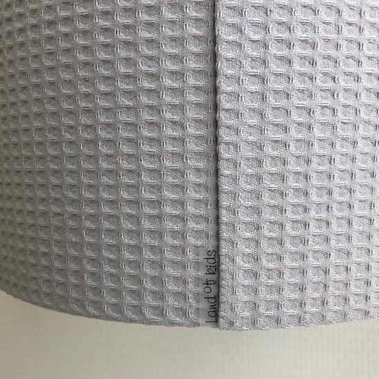 Lamp Babykamer Grijs Wafel - Grijze Babylamp Land of Kids - Kinderkamer Verlichting - Baby Lamp