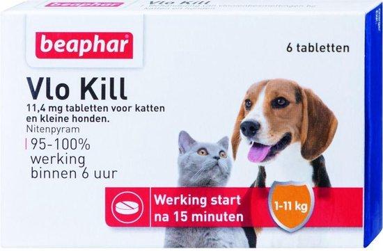 Vlo Kill -  Kleine Hond/Kat - Tot 11 Kg - 6 Tabletten