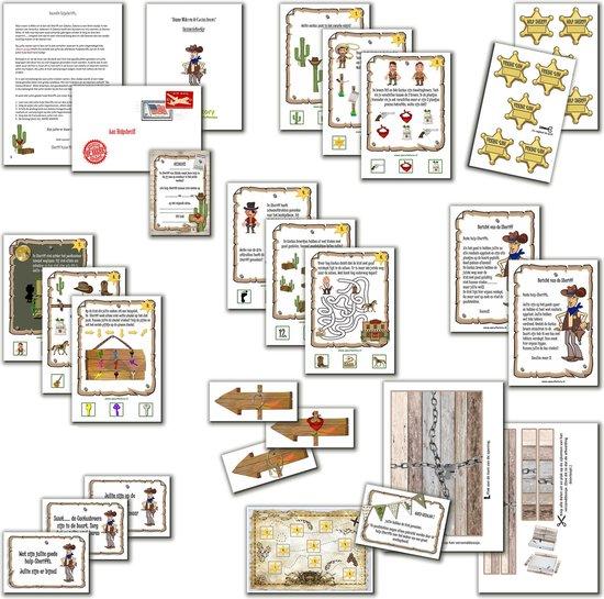 Thumbnail van een extra afbeelding van het spel Speurtocht voor kinderen - Dunne Mike & de Cactusbroers - 4 t/m 6 jaar - kinderfeestje - speurtocht - speurpakket