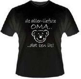 Slogan T-Shirt Maat XL - De allerliefste oma.... Dat ben ik