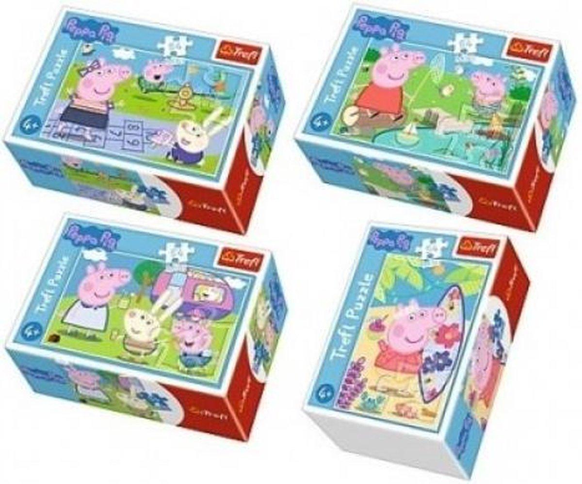 Peppa Pig puzzel, 4 x 54 stukjes, vanaf 4 jaar