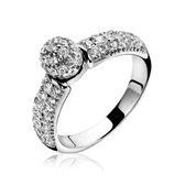 ZINZI zilveren ring wit ZIR1014