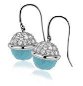 Zinzi - ZIO991T zilveren oorhangers turquoise