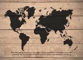 Wandbord A3 God had de wereld zo lief - christelijk - cadeau - bord