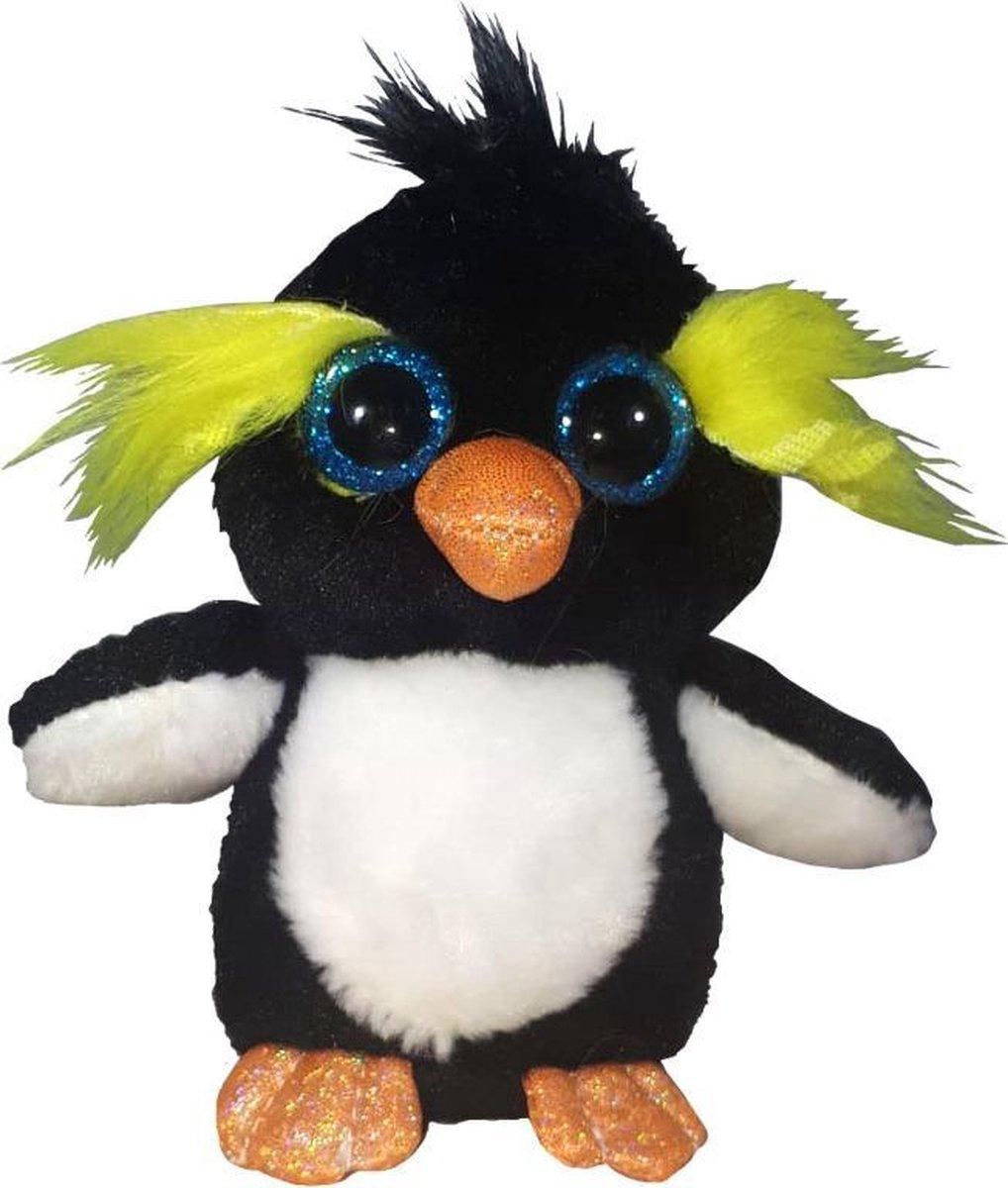 Pluche Knuffel Pinguïn Met Glitterogen 16cm