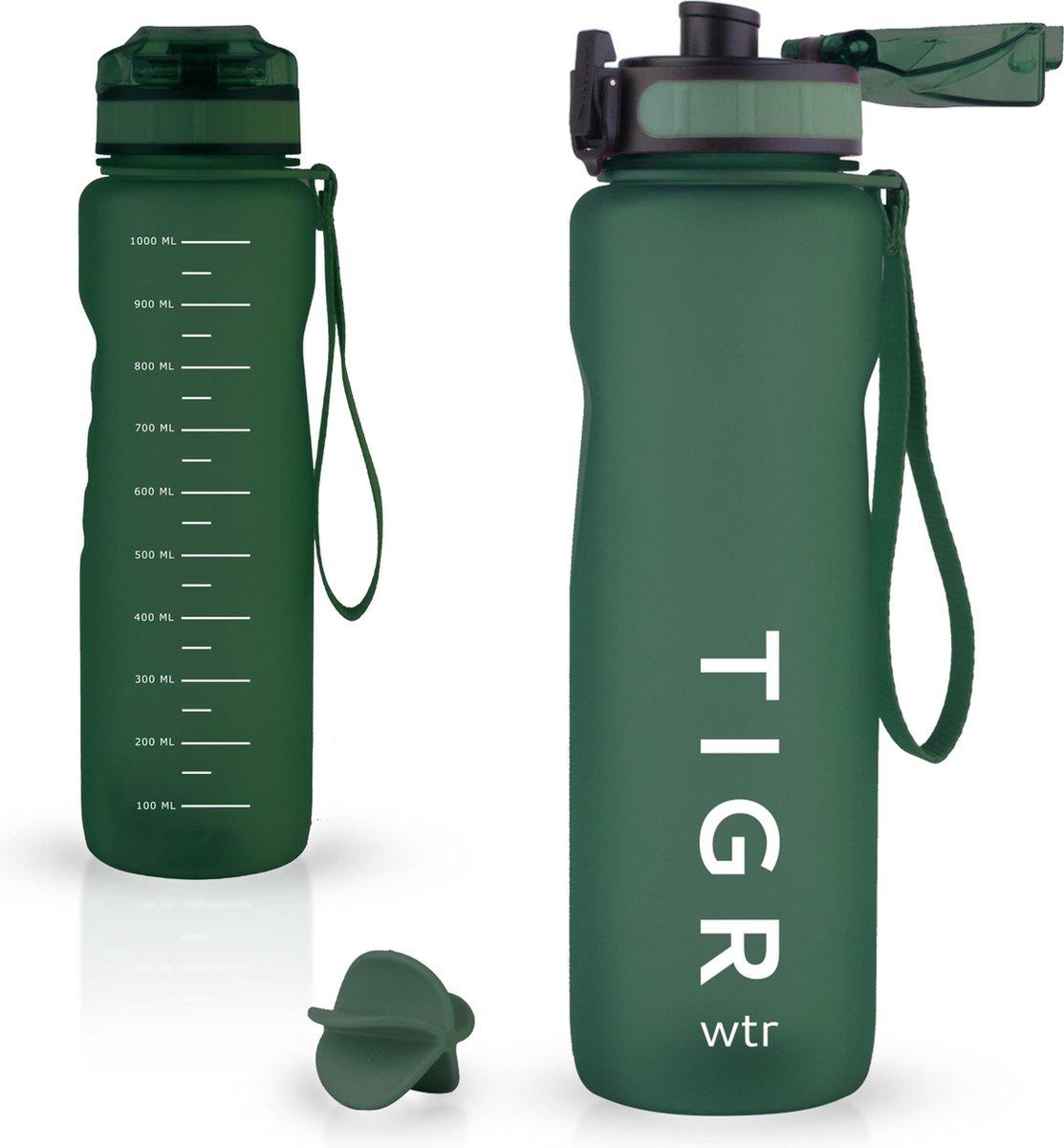 TIGR The Athlete - Drinkfles met fruitfilter - 1000ML - Sportfles - Groen - Gratis mengbal voor eiwi