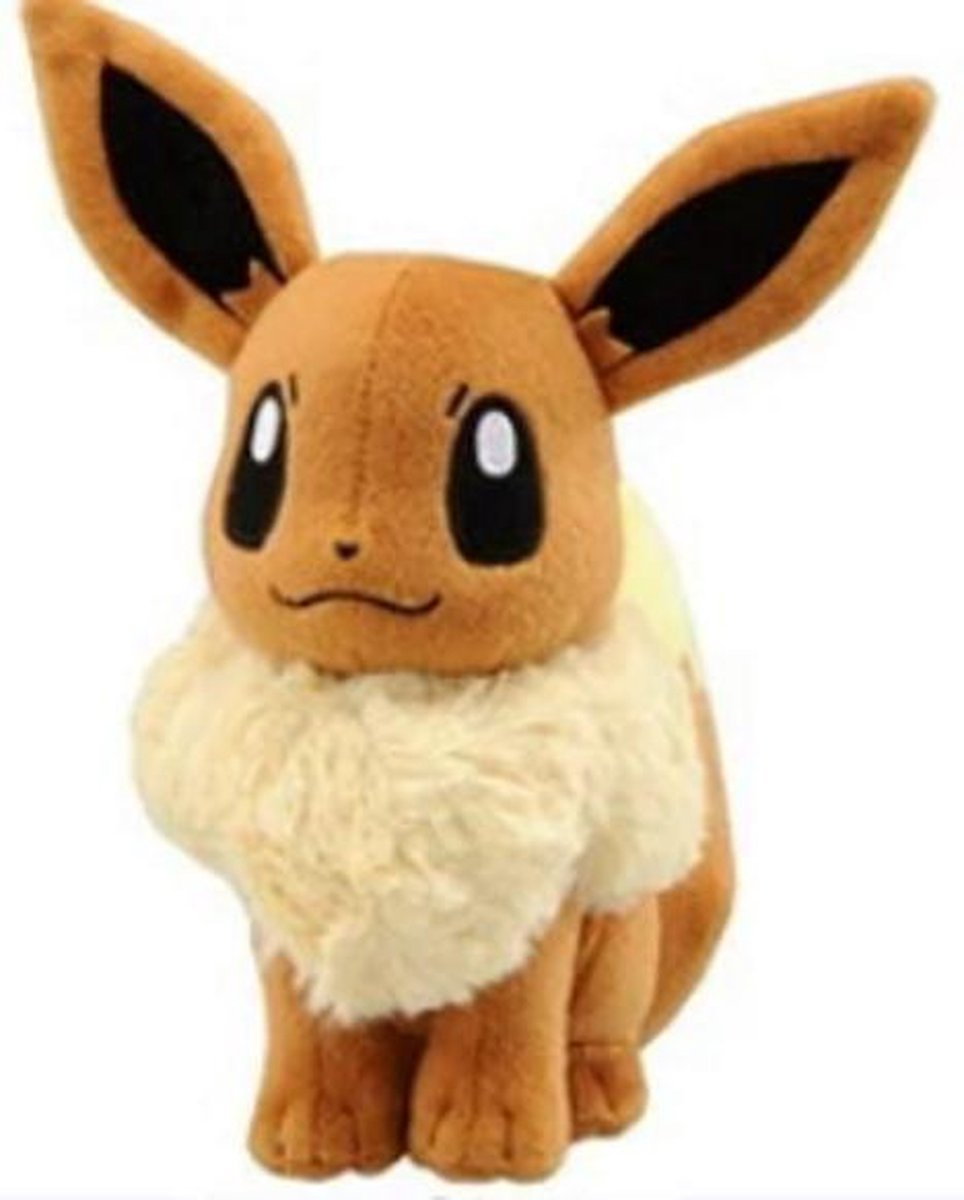 Knuffel Pokemon Eevee - 23cm hoog - bekend van de TV - creator - Pokémon - pokéball - speelgoed - Plushe