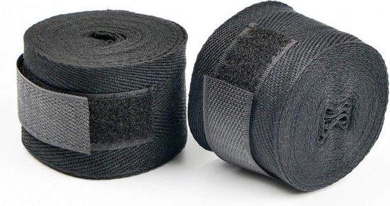 Boks Bandage - Boxing Wraps - Set van 2 - Professioneel - Boksbandages - Kickboks bandage - Sportbandage - Boksen - Zwart - Bandage Boksen - Sport - Kickboxen - MMA - Muay Thai - 250 cm