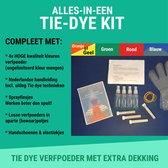 Tie Dye Kit mét Nederlandse handleiding | Hoge hechting textiel verf speciaal voor Tie Dye, 100% Nederlands product | Meng zelf onbeperkt aantal Tie Dye verf kleuren met deze Tie Dye set | + Doe het zelf Tie Dye techieken | Complete Knutselpakketten