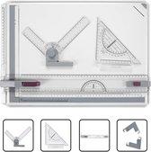 EverestPeak® Tekenplaat A3 met Tekenhaak- Anti Slip Ondersteuning- Tekenbord- 49x35,5x1,3 cm