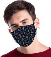 Hip mondkapje van katoen, uitwasbaar & herbruikbaar