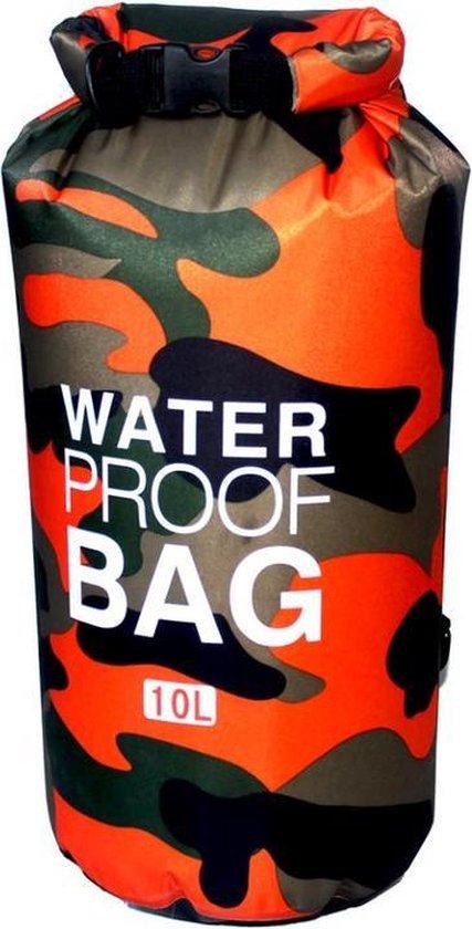 Packaway DryBag - Waterdichte Tas - Zeiltas - Outdoor Rugzak - Dry Bag - 10 Liter - Oranje