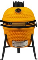 "Patton Kamado Grill - Kamado 13"" - Keramische barbecue - Tafelmodel - Classic Orange - Mini - Compleet - Oranje"