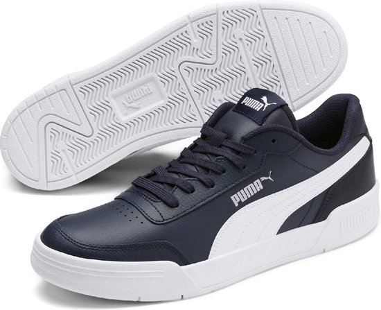 PUMA Caracal Sneakers Heren - Peacoat-Puma White - Maat 40