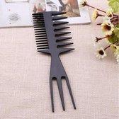 Brede 3 Way Kam|Styling Tool zwart|Kapper Kam|Haar Kam|Haar Accessoire|Cabantis|Zwart