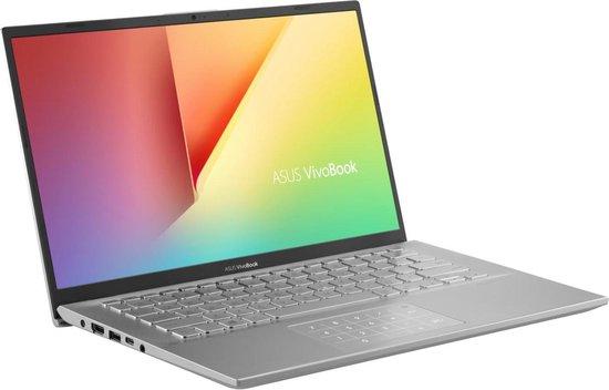 ASUS A412FA-EK1062T Notebook Zilver 35,6 cm (14'') 1920 x 1080 Pixels Intel® 8de generatie Core™ i5 8 GB DDR4-SDRAM 256 GB SSD Wi-Fi 5 (802.11ac) Windows 10 Home
