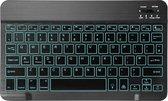 Elementkey V01 - Aluminium Bluetooth 3.0 Toetsenbord  - LED Verlichting RGB  - Keyboard voor TV, Tablet en PC / Computer - Zwart