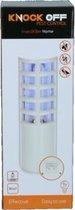 Insectenlamp voor binen en buiten - Inclusief lijmplaat - Vangstbereik 50 m². - 27 x 9 x 8 cm - Muggenlamp Vliegenlamp Insectenkiller