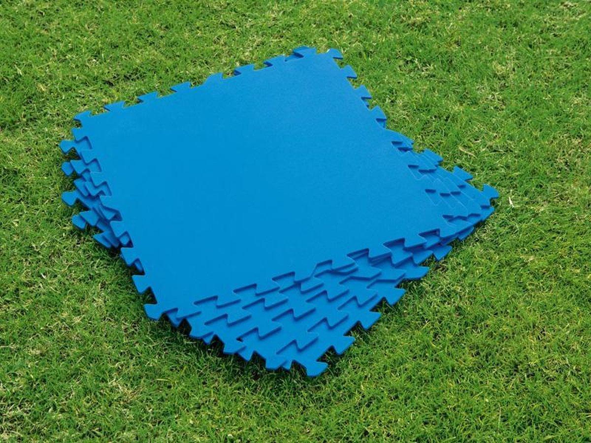 Eva Zwembad tegels - 10 stuks + 2 GRATIS - 30 x 30 CM - 1 CM dik - Zwembad ondergrond - Foam ondertegels - Fitnessmat