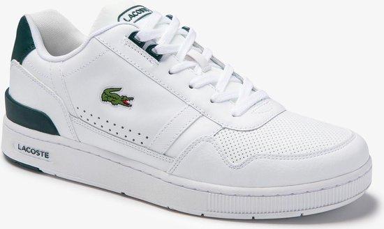 Lacoste T-Clip 0120 4 SMA Heren Sneakers - White/Dark Green - Maat 40